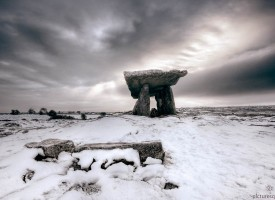 Poulnabrone Dolmen In Winter